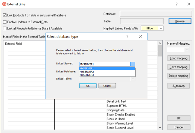 Linking to an External SQL Database - Sellerdeck Community